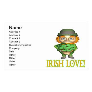 Amor irlandés tarjetas de visita
