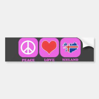 Amor Islandia de la paz Pegatina Para Auto