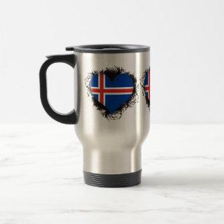 Amor Islandia del vintage I Taza De Viaje De Acero Inoxidable
