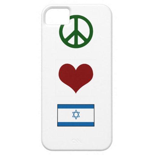 Amor Israel de la paz iPhone 5 Cárcasa