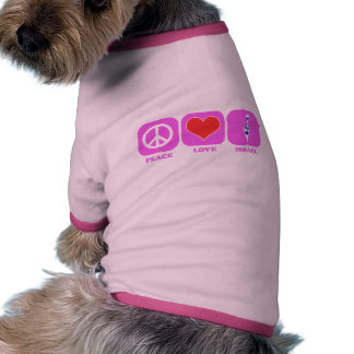 Amor Israel de la paz Camiseta De Perrito