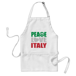 Amor Italia de la paz Delantal