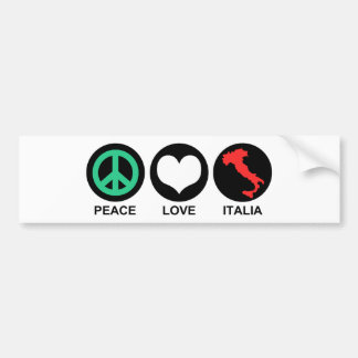 Amor Italia de la paz Etiqueta De Parachoque