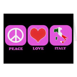 Amor Italia de la paz Tarjeta
