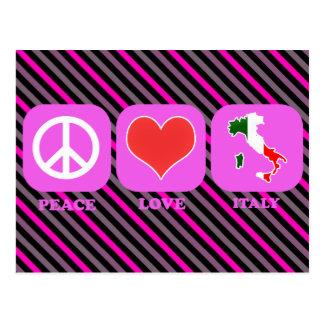 Amor Italia de la paz Tarjeta Postal