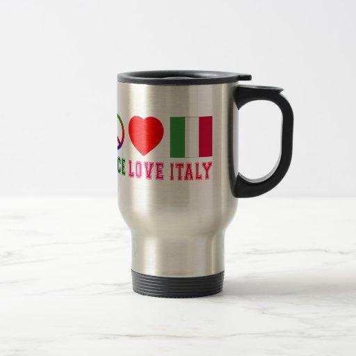 Amor Italia de la paz Taza De Café