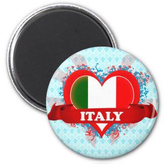 Amor Italia del vintage I Imán Redondo 5 Cm