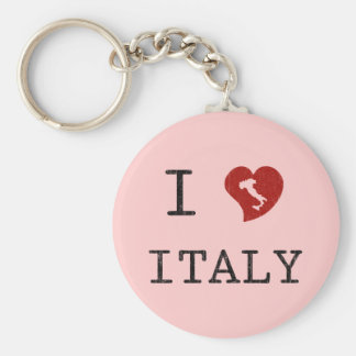 Amor Italia del vintage I Llavero Redondo Tipo Pin