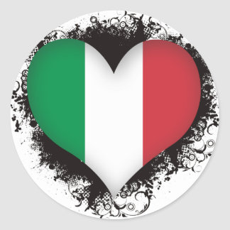Amor Italia del vintage I Pegatina Redonda