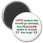Amor italiano imanes para frigoríficos
