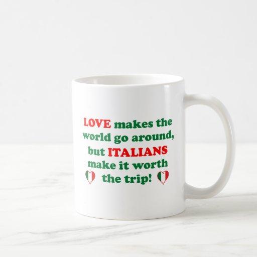Amor italiano taza básica blanca