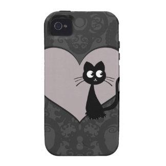 Amor IV de Kuro del gatito iPhone 4/4S Funda