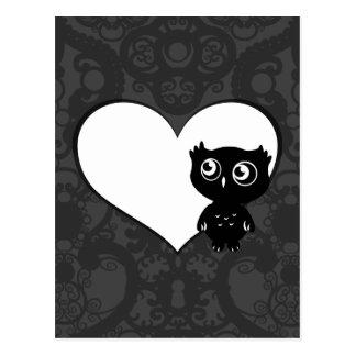 Amor IV del búho Tarjetas Postales