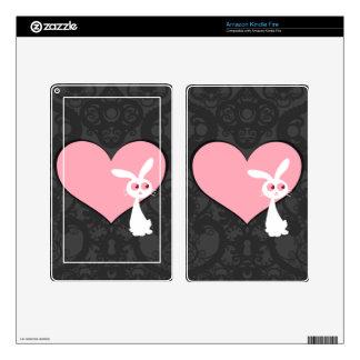 Amor IV del conejito de Shiro Kindle Fire Skins