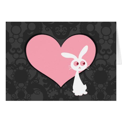Amor IV del conejito de Shiro Tarjeta De Felicitación