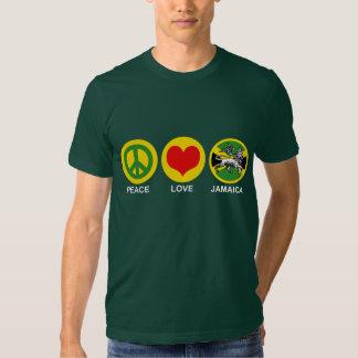 Amor Jamaica de la paz Playera