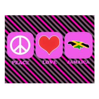 Amor Jamaica de la paz Tarjeta Postal