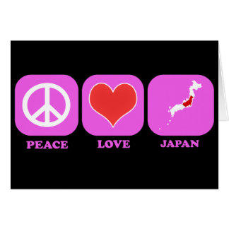 Amor Japón de la paz Tarjeton