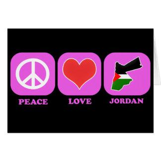 Amor Jordania de la paz Felicitacion