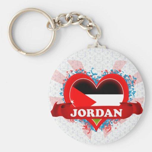 Amor Jordania del vintage I Llaveros