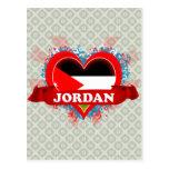 Amor Jordania del vintage I Postal
