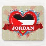 Amor Jordania del vintage I Tapete De Ratón