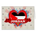 Amor Jordania del vintage I Tarjeton