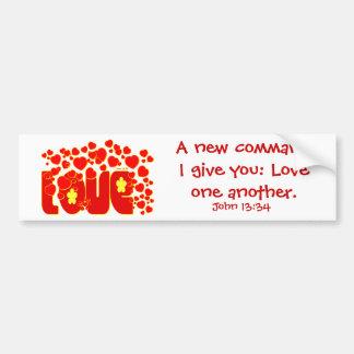Amor - Juan 13,34 Etiqueta De Parachoque