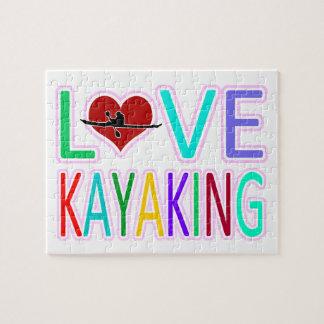 Amor Kayaking Rompecabeza