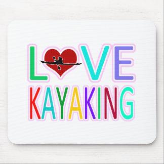 Amor Kayaking Alfombrilla De Ratón