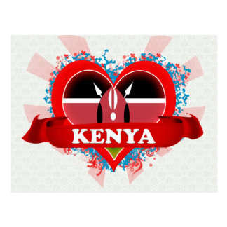 Amor Kenia del vintage I Tarjeta Postal