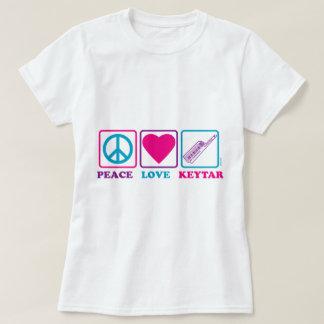 Amor Keytar de la paz Playeras