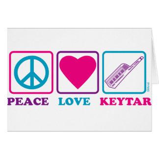 Amor Keytar de la paz Tarjeta De Felicitación