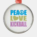Amor Kickball de la paz Ornamentos Para Reyes Magos