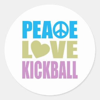 Amor Kickball de la paz Etiqueta