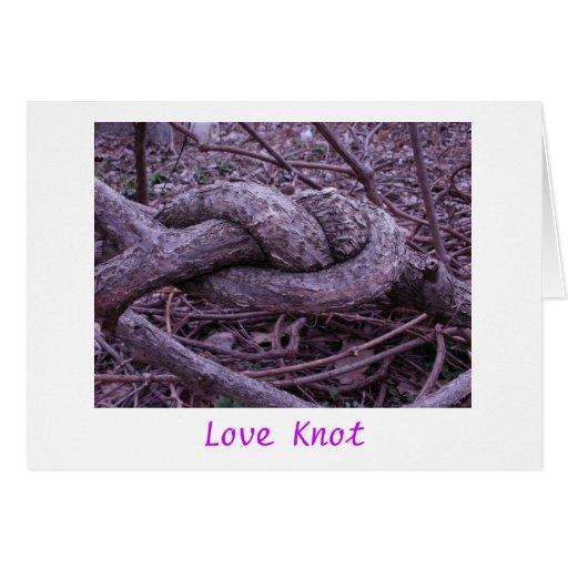 'Amor Knot Tarjeta