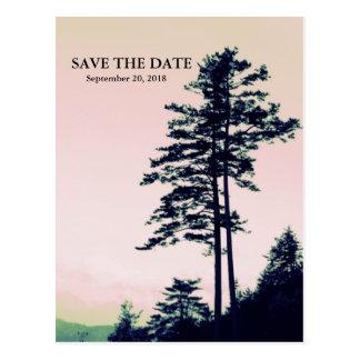 Amor l de los árboles que celebra reserva de la na tarjeta postal