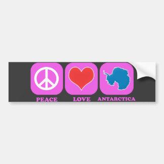 Amor la Antártida de la paz Etiqueta De Parachoque