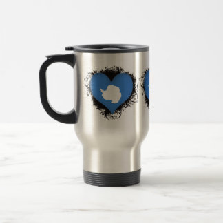 Amor la Antártida del vintage I Tazas De Café