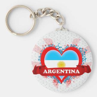 Amor la Argentina del vintage I Llaveros Personalizados