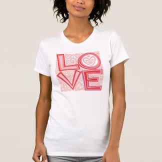 ¡Amor!  La camiseta de las mujeres Polera