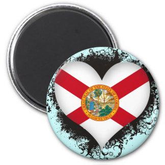 Amor la Florida del vintage I Imán