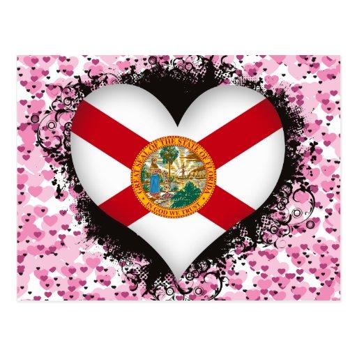 Amor la Florida del vintage I Postal