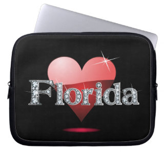 "Amor la Florida ""diamante Bling "" Mangas Portátiles"