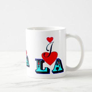 amor LA-Los Ángeles Mug♥ღ blanco clásico del ღ♥I Taza Básica Blanca