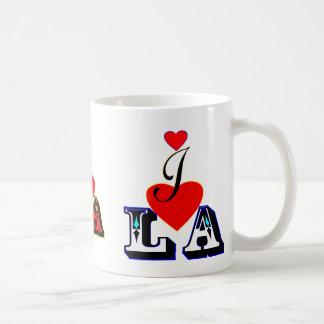amor LA-Los Ángeles Mug♥ღ blanco clásico del ღ♥I Taza Clásica