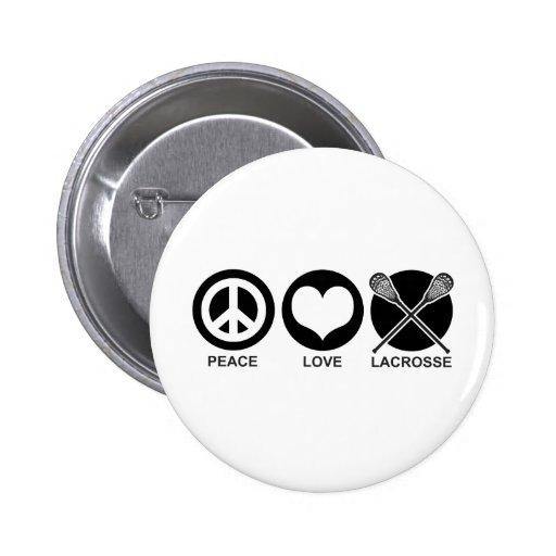 Amor LaCrosse de la paz Pin
