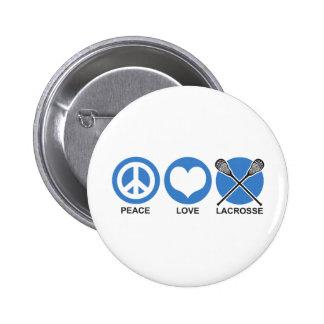 Amor LaCrosse de la paz Pin Redondo 5 Cm