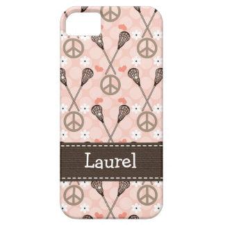 Amor Lacrossse de la paz iPhone 5 Protector