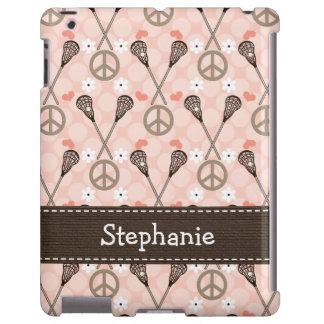 Amor Lacrossse de la paz Funda Para iPad
